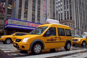 Ford Transit Connect Taxis are making their debut on the streets of New Yor. (9/7/2011)