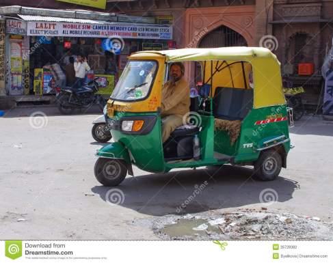 auto-rickshaw-taxi-jodhpur-india-sept-sept-taxis-popular-type-transport-locals-tourists-35728382